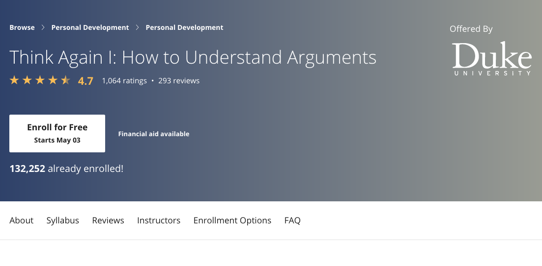 Think Again: How To Understand Arguments